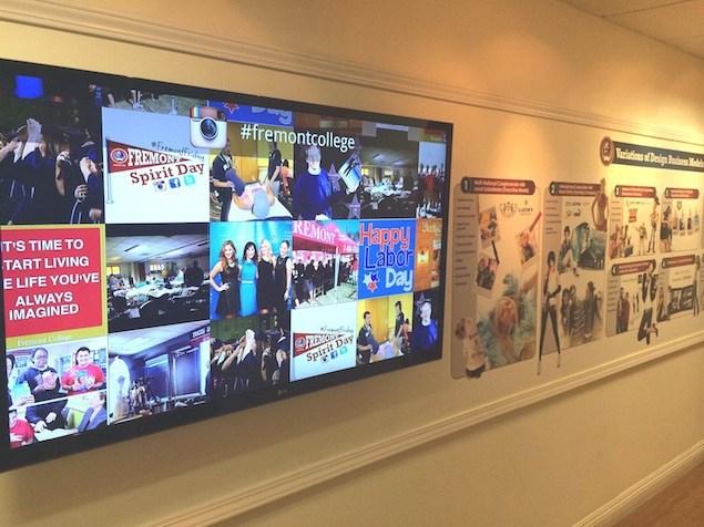 Fremont-College-Instagram-Wall-Enplug-Digital-Sigange-Software